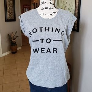 Grey Nothing To Wear Top